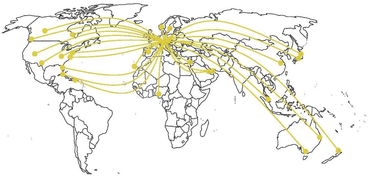 Das Statica Ingenieurbüro für Statik, Dynamik und Fliegende Bauten ist weltweit vernetzt.